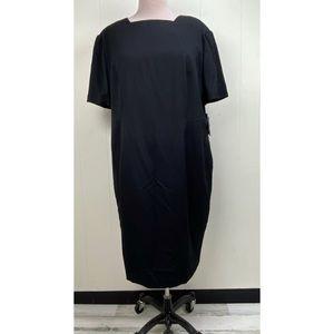 NWT Valerie Stevens II Black Shift Dress 24W